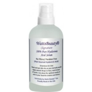 Watts Beauty Signature 100% Pure Hyaluronic Acid Wrinkle Serum - Best Hyaluronic Acid Serum for Face - No Fillers - Made in the USA - Perfect for Wri