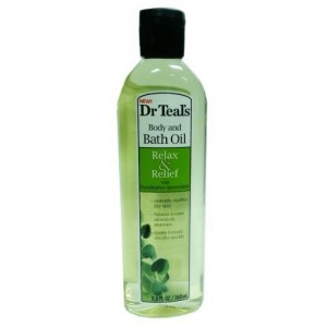 Dr. Teal's Body and Bath Oil With Eucalyptus Spearmint, 8.8 FL OZ