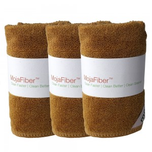 "Plush MojaFiber Microfiber Face Cloth: Ultra Dense 3 Pk - 12"" x12"" - Exfoliate, Wash and Cleanse Pores - Easily Remove Makeup, Oil and Dead Skin Cell"