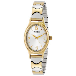 "Timex Women's T26301 ""Elevated Classics""  Two-Tone Expansion Band Watch"