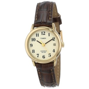 Timex Women's Brown Watch With Beige Dial