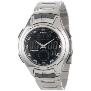 Casio Men's AQ160WD-1BV Stainless Steel Ana-Digi Electro-Luminescent Sport Watch
