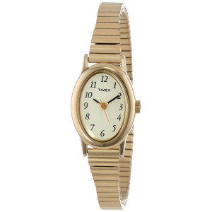 """Timex Women's T21872 """"Cavatina""""  Classics Gold-Tone Expansion Band Watch"""