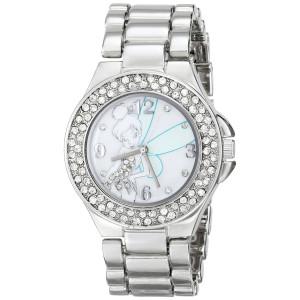 Disney Women's TK2031 Tinkerbell Mother-of-Pearl Dial Silver-Tone Bracelet Watch