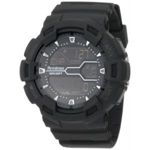 Armitron Sport Men's 40/8246MBLK Black Resin Digital World Time Chronograph Watch