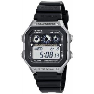 Casio Men's AE-1300WH-8AVCF Illuminator Digital Display Quartz Black Watch