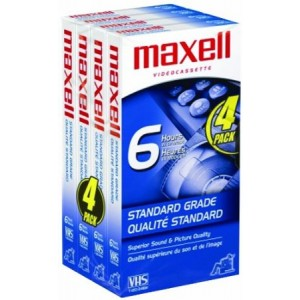 Maxell STD-T-120 4 Pack VHS Tapes