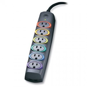 SmartSockets Basic Surge Protection Power Strip, 6-Outlet, 6' Cord, 670 Joules