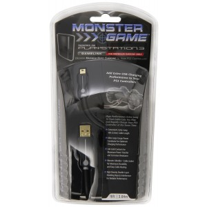 PlayStation 3 Monster Cable GameLink USB to Mini-USB for PlayStation 3 Controllers