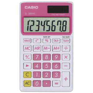 Casio SL-300VC Standard Function Calculator, Pink