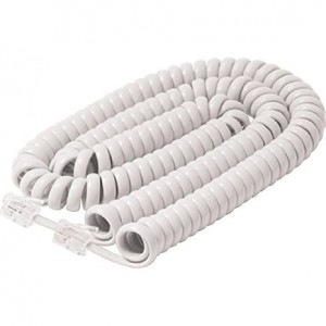 25FT Handset Cord White Premium Retail Blister Pack