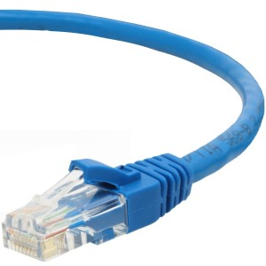 Mediabridge Cat5e Ethernet Patch Cable (10 Feet) - RJ45 Computer Networking Cord - Blue