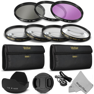 58MM Professional Lens Filter and Close-Up Macro Accessory Kit for CANON EOS Rebel T5i T4i T3i T3 T2i T1i XT XTi XSi SL1 DSLR Cameras - Includes: Viv