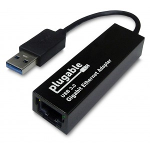 Plugable USB 3.0 to 10/100/1000 Gigabit Ethernet LAN Network Adapter (ASIX AX88179 chipset, Windows 8.1, 8, 7, Vista, XP, Linux, OS X, Chrome OS)