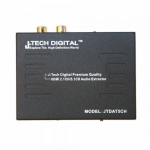 J-Tech Digital  Premium Quality 1080P HDMI To HDMI + Audio (SPDIF + RCA Stereo) Audio Extractor Converter