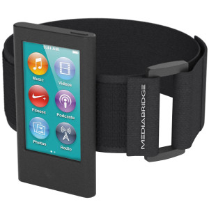 Mediabridge Armband for iPod Nano - 7th Generation / 8th Generation ( Black ) - Model AB1 (Part# AB1-IPN7-BLACK )