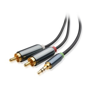Cable Matters Gold Plated 3.5mm to 2RCA Stereo Audio Cable 6 Feet