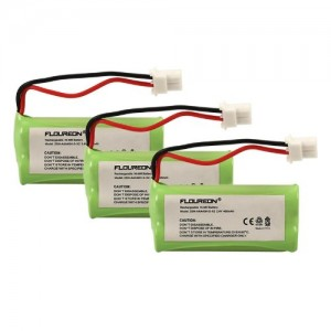 Floureon 3 Packs 2.4V 400mAh Cordless Home Phone Battery for ATandT BT162342 BT162342 BT166342 BT-166342 BT266342 BT-266342