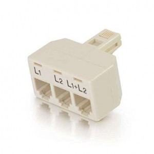 C2G / Cables to Go 41062 Two Line Telephone Splitter L1 + L2