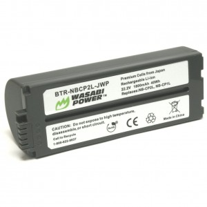 Wasabi Power Battery for Canon NB-CP2L, NB-CP1L and Canon Compact Photo Printers SELPHY CP100, CP200, CP220, CP300, CP330, CP400, CP510, CP600, CP710