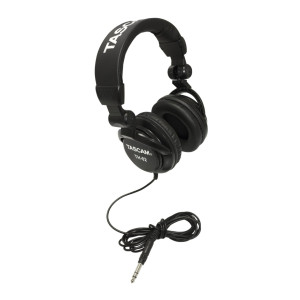 TASCAM TH02-B Closed-Back Stylish Headphone, Black