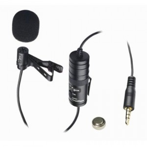 Canon VIXIA HF R500 Camcorder External Microphone Vidpro XM-L Wired Lavalier microphone - 20' Audio Cable - Transducer type: Electret Condenser
