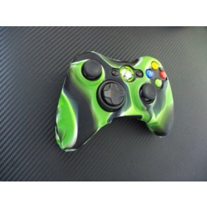 MakhryOne Piece 1x Brand New High Quality Xbox 360 Remote Controller Silicon Protective Skin Case Cover -Light Green Black Color