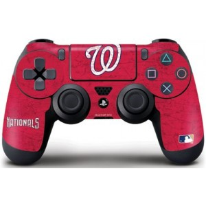 MLB Washington Nationals Distressed Skin for Sony PlayStation 4/PS4 Dual Shock4 Controller, Red