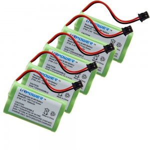 URPOWER 5 Pack 2.4V Ni-MH Cordless home Phone Rechargeable Battery for Uniden BT1007 BT-1007 BT904 BT-904 BT1015 BBTY0460001 BBTY0510001 BBTY0624001