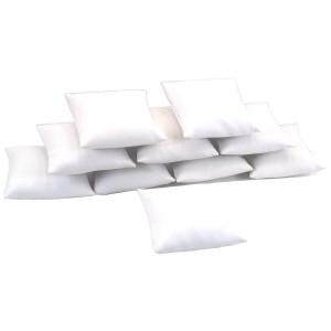 "10 White Leather Bracelet Watch Pillow Jewelry Displays 3"""