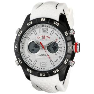 U.S. Polo Assn. Sport Men's US9489 Analog-Digital Display Analog Quartz White Watch