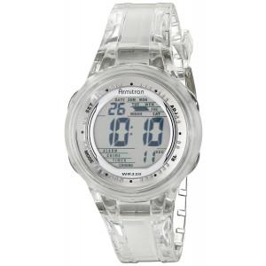 Armitron Sport Women's 45/7051CLR Digital Clear Jelly Strap Watch