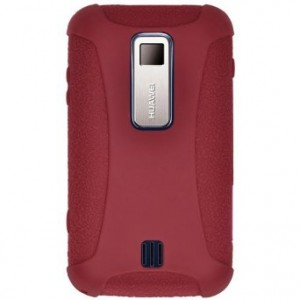 Amzer Silicone Skin Jelly Case for Huawei Ascend M860 - Maroon Red