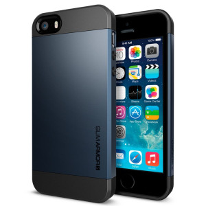 iPhone 5S Case, Spigen Slim Armor S Case for iPhone 5/5S - Metal Slate (SGP10365)