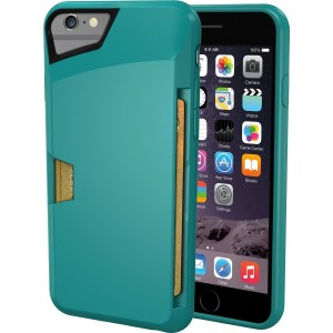 """iPhone 6 Wallet Case - Vault Slim Wallet for iPhone 6 (4.7"""" ) by Silk - Ultra Slim Protective Wallet Cover (Pacific Green)"""