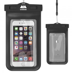 Universal Waterproof iPhone Case by Wildtek. For iPhone 6, 6 plus, 5, 5s, 4, Samsung Galaxy S6, S5, S4, Samsung Note, GPS, mp3 player, passport. Also