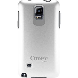 OtterBox Samsung Galaxy Note 4 Case Symmetry Series - Retail Packaging - Glacier (White/Gunmetal Grey)