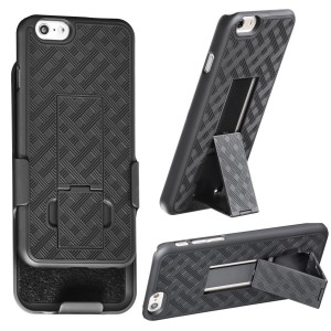 iPhone 6 Holster, WizGearTM Shell Holster Combo Case for Apple iPhone 6 4.7 Inch Screen with Kick-stand and Belt Clip - Fits Atandt, Verizon, T-Mobil