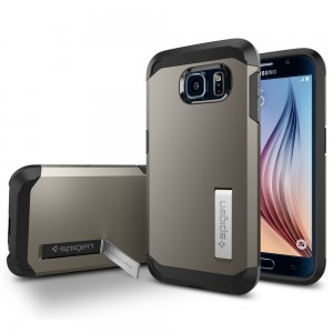 Galaxy S6 Case, Spigen [HEAVY DUTY] Tough Armor Case for Samsung Galaxy S6 [EXTREME PROTECTION] - Retail Packaging - Gunmetal (SGP11337)