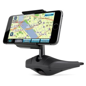 Kootek Universal CD Slot Car Mount Phone Holder Cradle for iPhone 6 Plus 6 5S 5C 5 4S 4, iPod Touch, Samsung Galaxy S6 S5 S4 Galaxy Note 2 Note 3, No