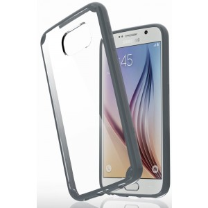 Samsung Galaxy S6 Case - VENA [RETAIN] Ultra Slim Fit Hybrid Case with ShockProof TPU Cornerguard Bumper and Hard Clear Scratch Resistant Back Cover