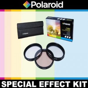 Polaroid Optics 3 Piece Special Effect Lens Filter Kit (Soft Focus, Revolving 4 Point Star, Warming) For The Canon Digital EOS Rebel SL1 (100D), T5i