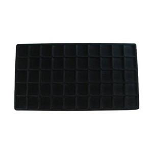 2 Black 50 Slot Pendant Jewelry Showcase Display Tray Inserts