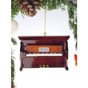 Brown Upright Piano Tree Ornament