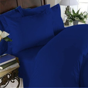 Elegant Comfort 1500 Thread Count Egyptian Quality 4-Piece Bed Sheet Sets with Deep Pockets, Full, Royal Blue