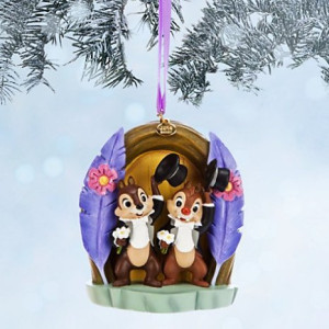 Disney Limited Edition Chip 'N Dale Sketchbook Christmas Ornament - Two Chips and a Miss