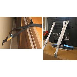 Anti-Tip Furniture/Flat Screen TV Safety Strap (Black)