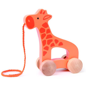 Hape E0906 Push and Pull - Giraffe Toy