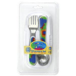 Stephen Joseph Fork and Spoon Set, Dino
