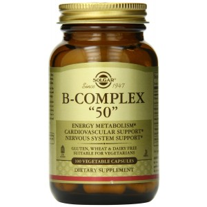 Solgar B-Complex Vegetable Capsules, 50 mg, 100 Count